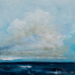 Horizon seascape painting by Isabel Ferreira