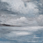 Winter Sky seascape painting by Isabel Ferreira